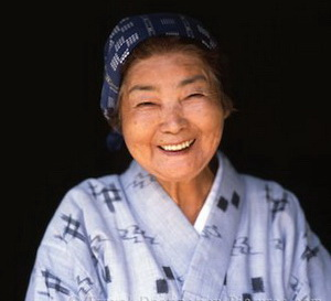 Smiling Okinawan Woman, Okinawa, Japan