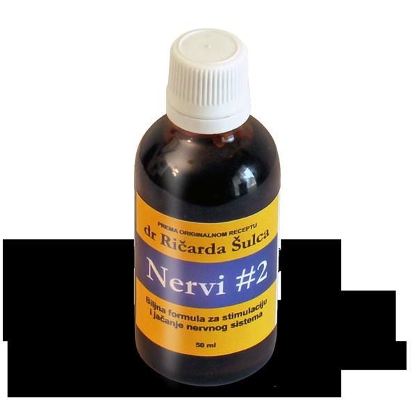 NERVI #2 – biljna formula za stimulaciju i jačanje nervnog sistema