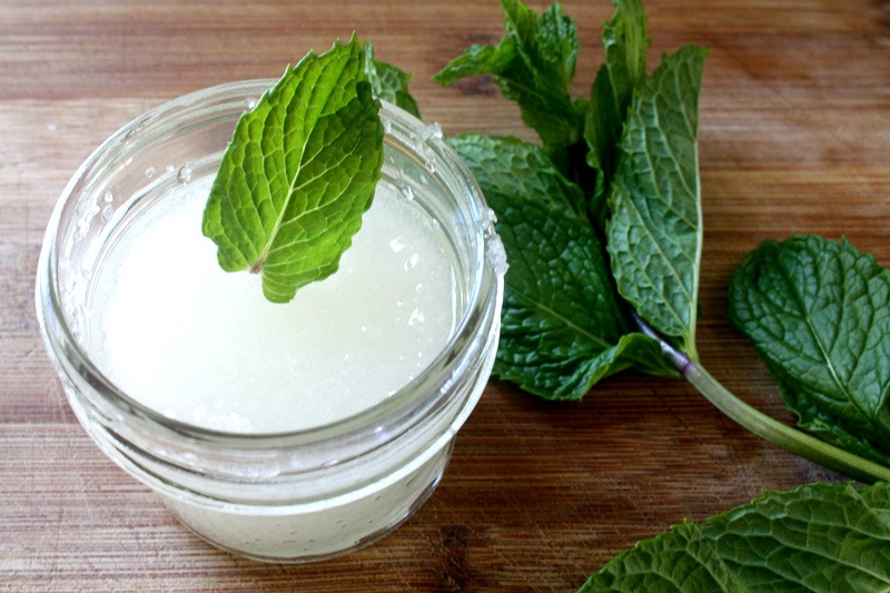 Tea-Tree-and-Mint-Homemade-Foot-Scrub-by-Kate-Bello